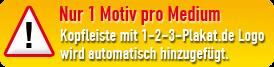 Nur 1 Motiv pro Medium; Kopfleiste mit STRÖER direkt Logo wird automatisch hinzugefügt.